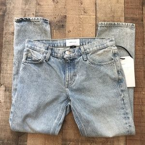 Anthro Current/Elliott Cropped Straight Jeans